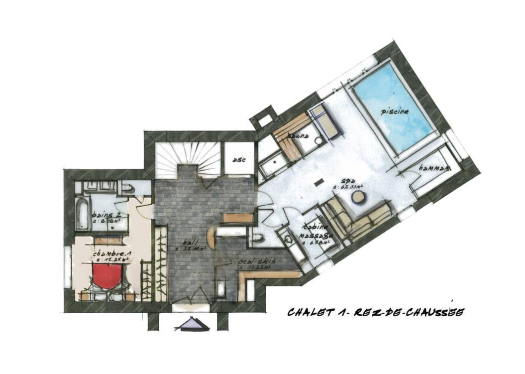 Salle De Bain Yvetot ~ Chalet Eb Ne Chalets De Luxe H Tel La Mourra Val D Is Re