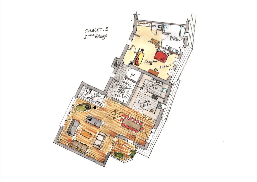 chalet ambre chalets de luxe h tel la mourra val d 39 is re. Black Bedroom Furniture Sets. Home Design Ideas