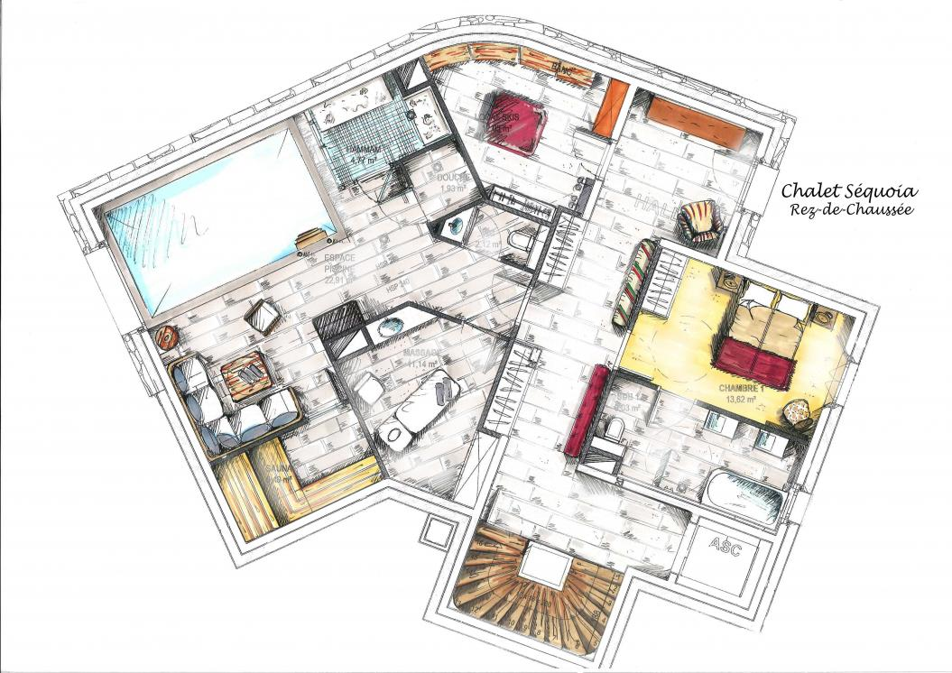 chalet sequoia luxury chalets hotel la mourra val d 39 is re. Black Bedroom Furniture Sets. Home Design Ideas
